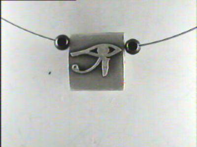 Two faces 1 piece necklace (scarab-eye)