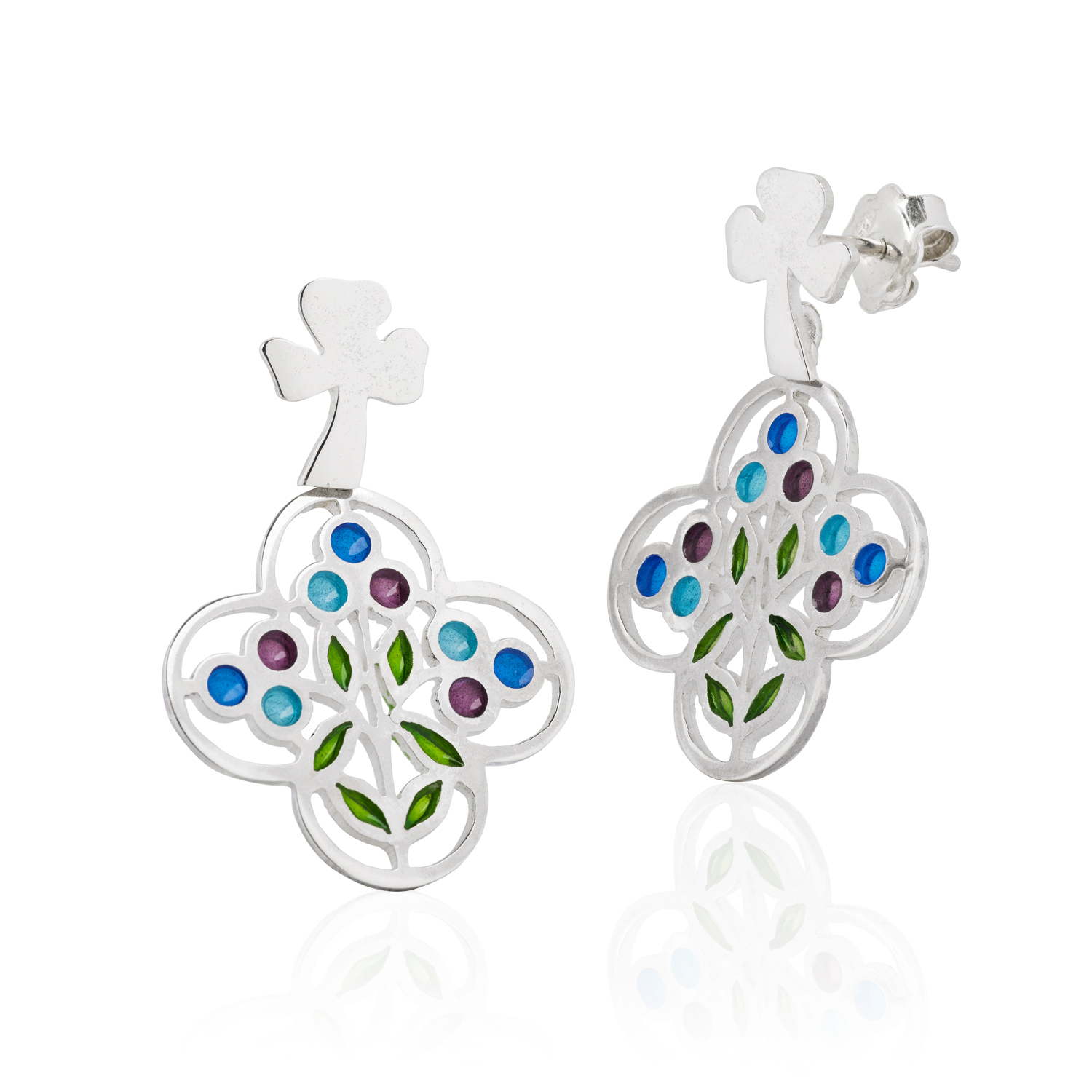 Casa Amatller enameled earrings