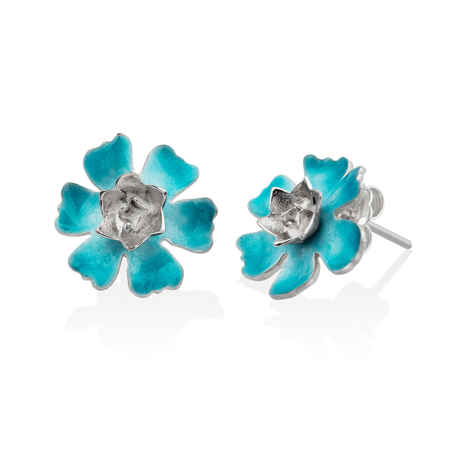 Turquoise Magnolia earrings