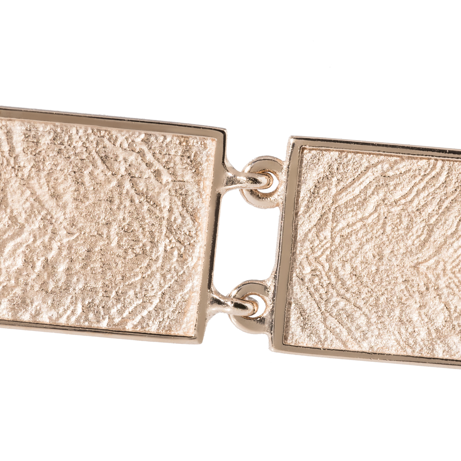 MIES long earrings rose gold plated