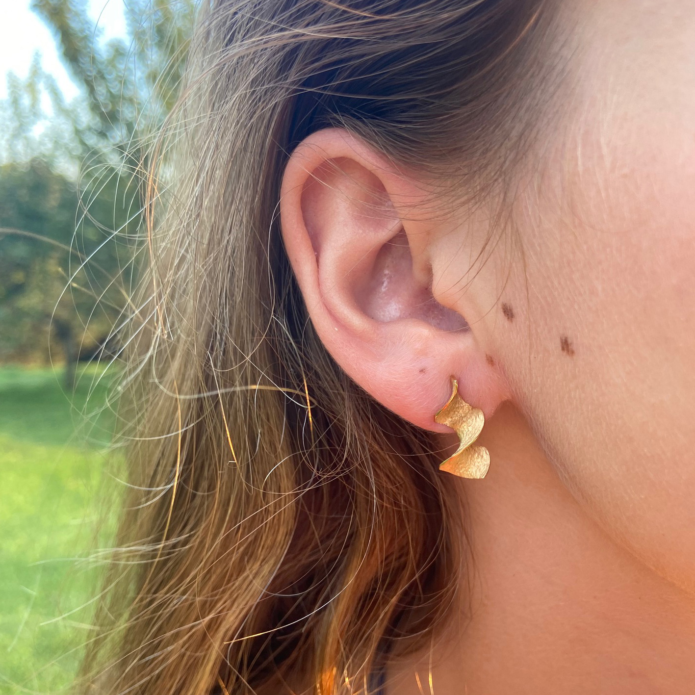 Small goldplated Encenalls earrings