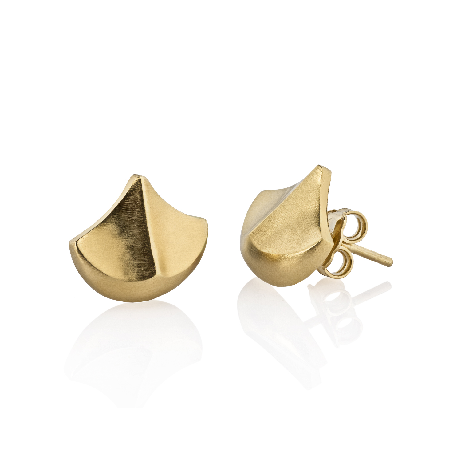 Gold-plated silver earrings Teules