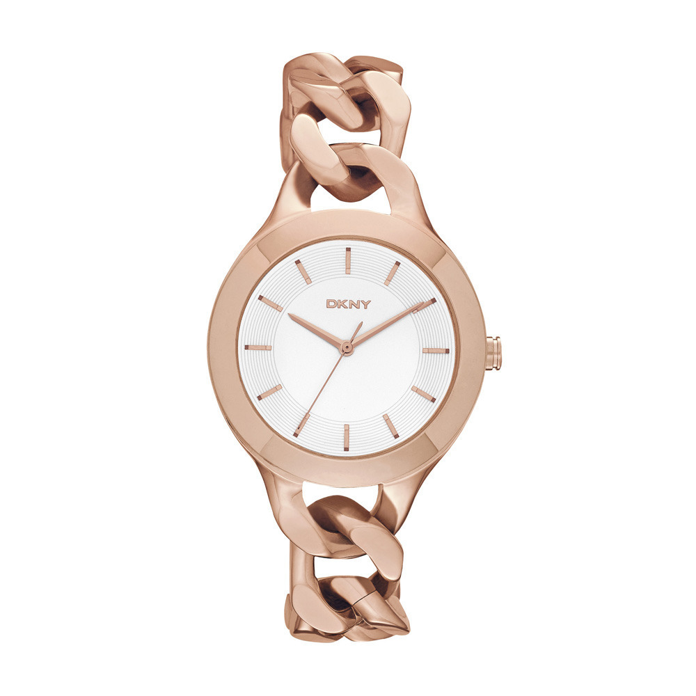DKNY Chambers rose gold watch